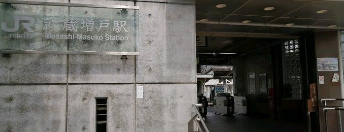 Musashi-Masuko Station is one of JR 미나미간토지방역 (JR 南関東地方の駅).
