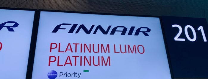 Finnair Check-in Desks 201-207 is one of J's Liked Places.