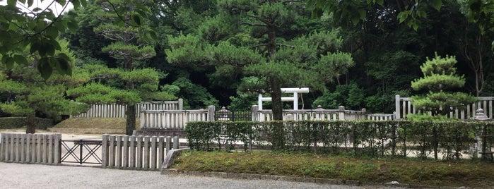 綏靖天皇 桃花鳥田丘上陵(四条塚山古墳) is one of Kashihara (橿原市), Nara.