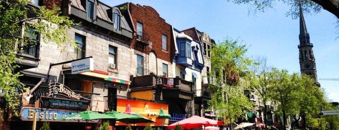Rue Saint-Denis is one of **Montréal**.
