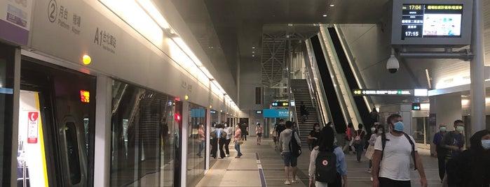 Taoyuan Metro Taipei Main Station (A1) is one of Locais curtidos por 高井.