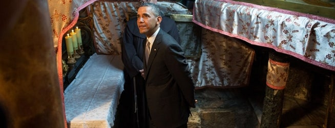 Church of the Nativity is one of President Obama's Trip to the Middle East.