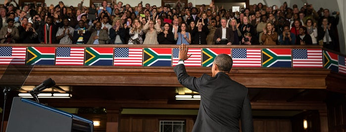 University of Cape Town is one of President Obama & the First Lady's trip to Africa.