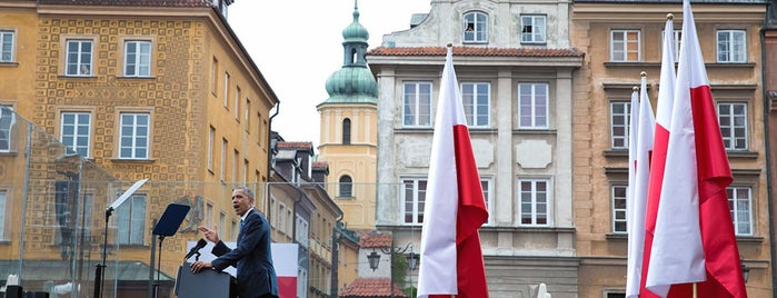 Plac Zamkowy is one of The President's Trip to Europe - Spring 2014.