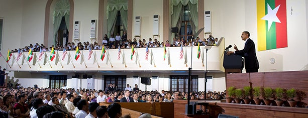 Yangon University is one of President Obama's Asia Trip 2012.