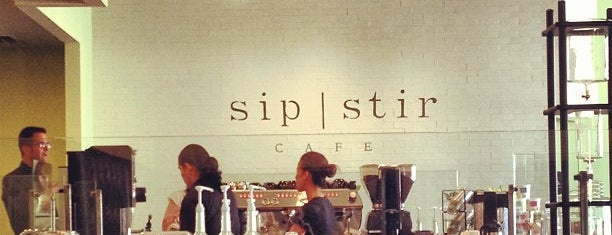 Sip Stir Cafe is one of Tempat yang Disukai Vi.
