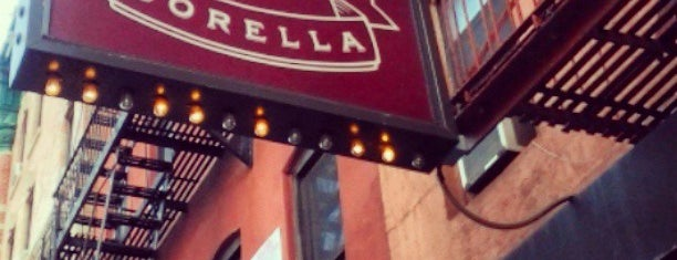 Sorella is one of East Village - to go to.
