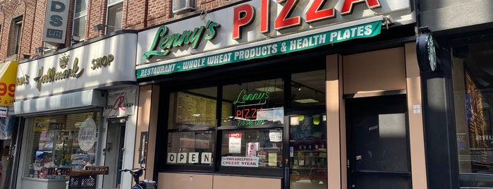 Lenny's Pizza is one of NYC.