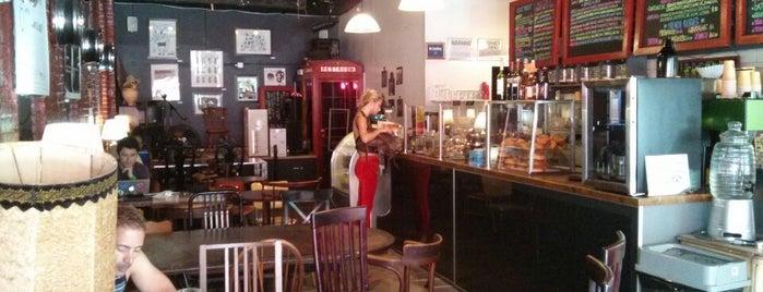 Ange Noir Cafe is one of NYC: Fast Eats & Drinks, Food Shops, Cafés.