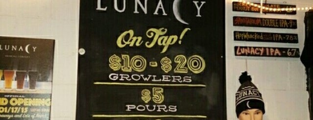 Lunacy Brewing Company is one of NJ Breweries.