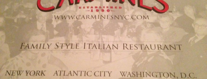 Carmine's Italian Restaurant is one of New York, NY.