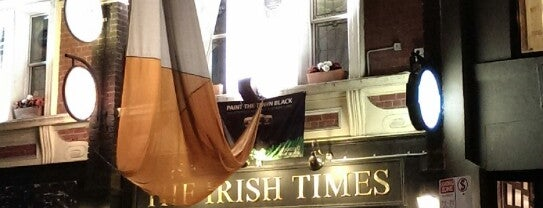 The Irish Times is one of Mike's Bars.