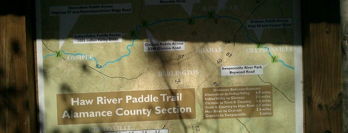 town & country canoe access is one of Haw River Trail.