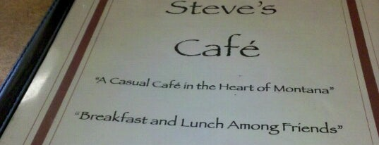 Steve's Cafe is one of Montana.