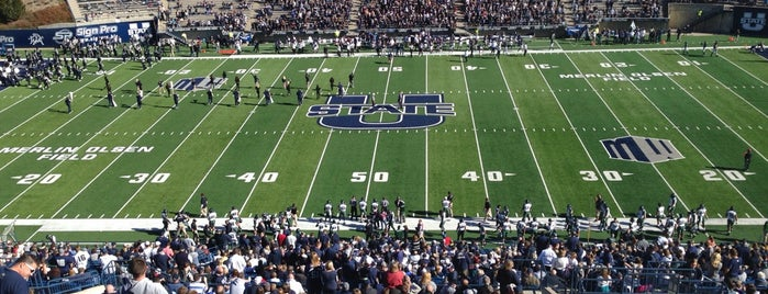 Merlin Olsen Field at Maverik Stadium is one of FBS Stadiums.