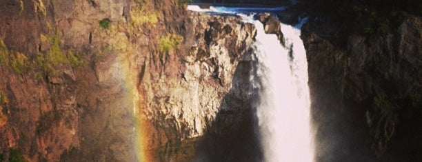 Snoqualmie Falls is one of Seattle Must Eats + Sights.