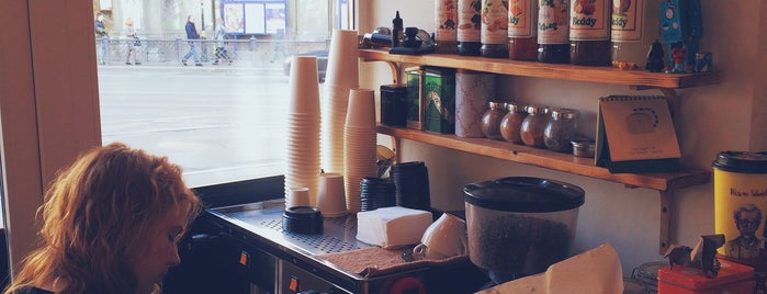 Rudy's Coffee to Go is one of ПЕТЕРБУРГ. Памятка путнику. 2016.