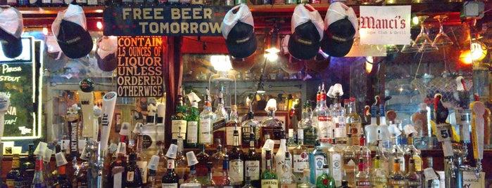 "Manci's Antique Club is one of ""Diners, Drive-Ins & Dives"" (Part 1, AL - KS)."