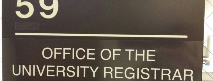 Office of the University Registrar is one of ouro.
