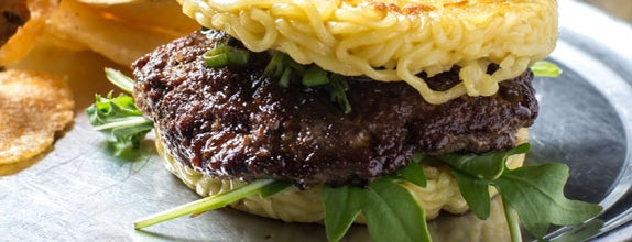 RAMEN.Co by Keizo Shimamoto is one of 8 of the Weirdest Cheeseburgers You've Ever Seen.