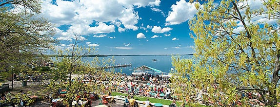 Memorial Union Terrace is one of The Greatest Outdoor Bars in America.