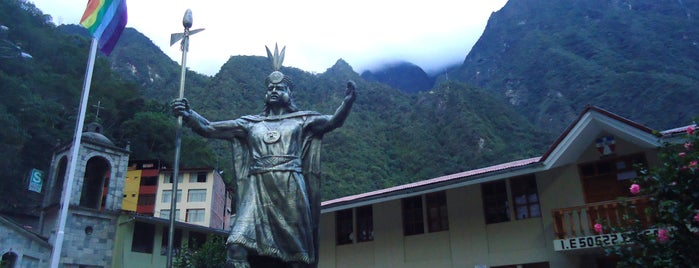 Plaza de Armas de Aguas Calientes is one of Perú.