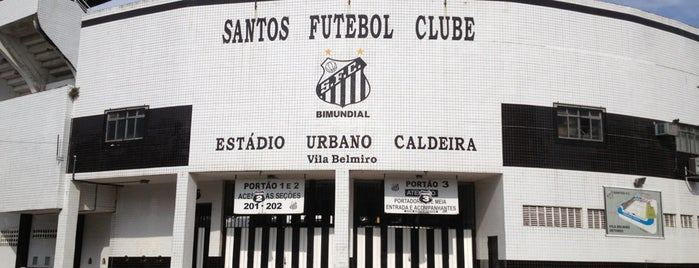 Estádio Urbano Caldeira (Vila Belmiro) is one of Locais curtidos por Fernando.