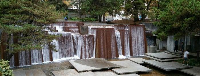 Ira C. Keller Fountain is one of Portlandia.