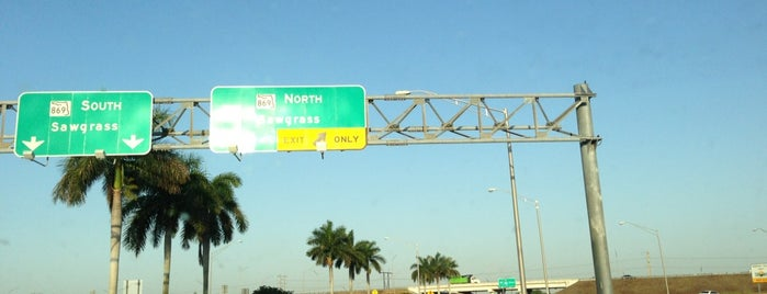 Sawgrass Expressway is one of Lynnes list.