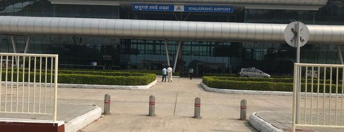 Khajuraho Airport is one of Tempat yang Disukai Leyla.