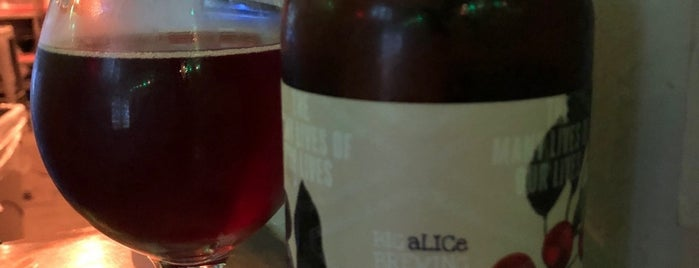 Big Alice Brewing is one of NYC Favs.