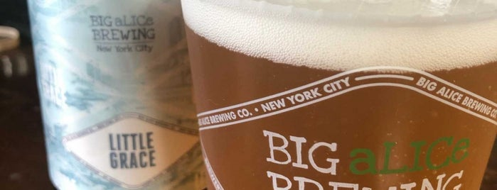 Big Alice Brewing is one of The NYC Bar Guide.