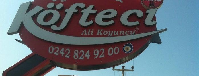 Aya Küstü Köfteci Ali is one of Antalya.
