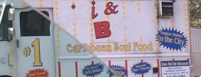 Gigi & Big R Caribbean Soul Food Cart is one of Tempat yang Disukai Jason.