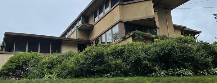 """Eugene A. Gilmore """"Airplane"""" House is one of Frank Lloyd Wright."""