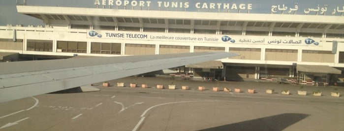 Tunis Carthage International Airport (TUN) is one of The Amazing Race 01 map.