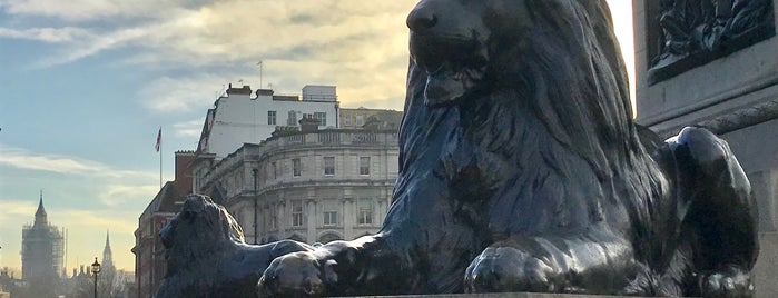Trafalgar Square Lions is one of Trips / London.