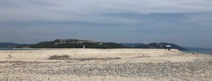 Песчаная Коса П-ов Кассандра, Греция is one of สถานที่ที่ Alex ถูกใจ.