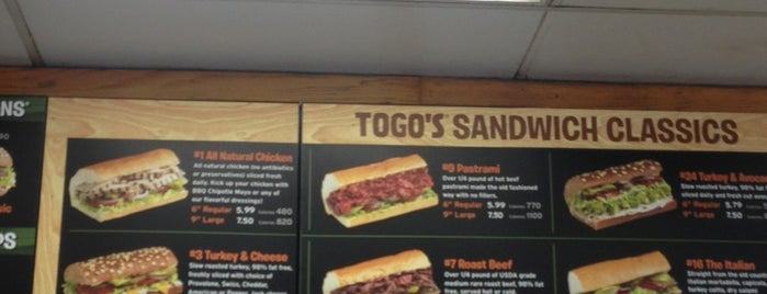 TOGO'S Sandwiches is one of Locais curtidos por Robby.