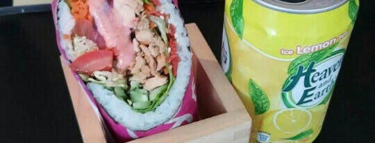 Sushi Burrito Express is one of Veggie choices in Non-Vegetarian Restaurants.
