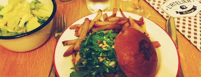 L'Atelier Saint-Georges is one of BEST BURGERS IN PARIS.