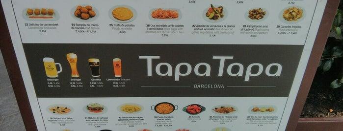 Tapa Tapa is one of Barcellona solo tapas e paella secondo Maggia.