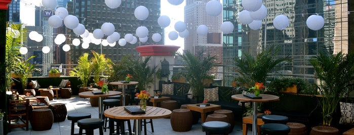 Dream Midtown is one of The Best Hotel Rooftops in NYC.