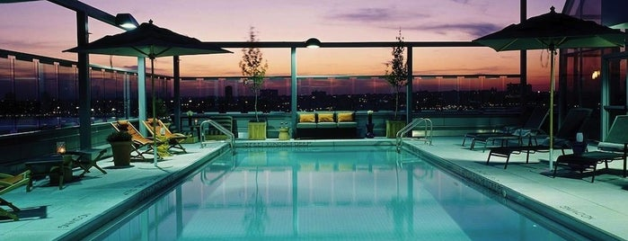 Gansevoort Meatpacking NYC is one of The Coolest Hotel Pools in NYC.