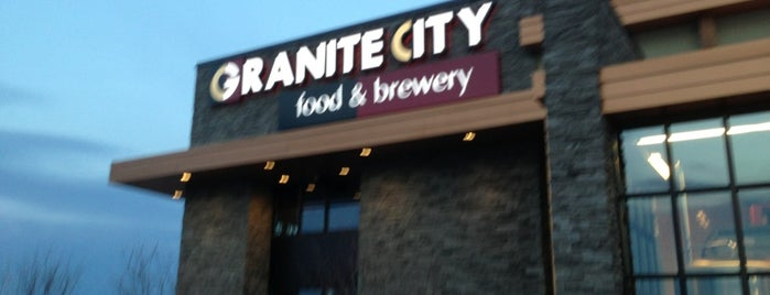 Granite City Food & Brewery is one of For a Brew.