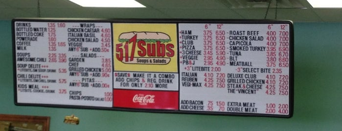 517 Subs is one of Chattanooga.