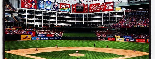 Globe Life Park in Arlington is one of STADIUMS.