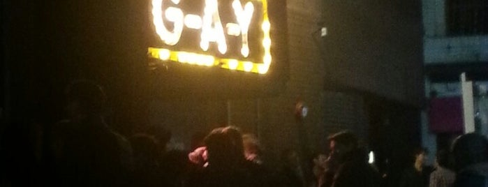 G-A-Y Late is one of Where I get drunk ;-).