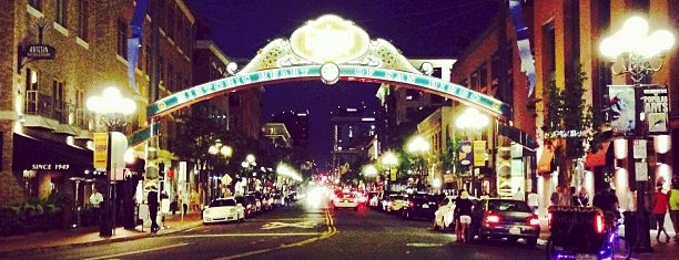 The Gaslamp Quarter is one of San Diego, California.