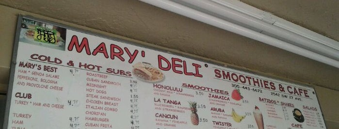 Mary's Deli is one of Lugares favoritos de Marcos.